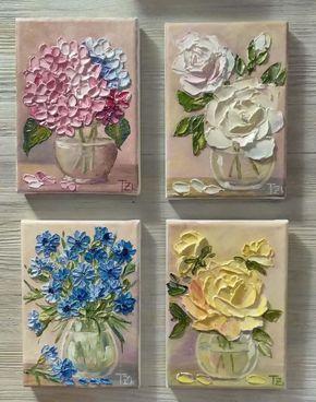 Rose Oil Painting, Original Oil Painting, Flowers