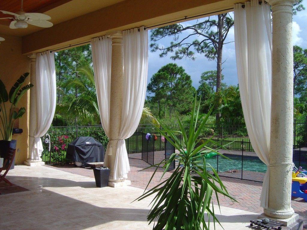 Fantastische Outdoor Vorhange Fur Die Terrasse Die Erhoht Die