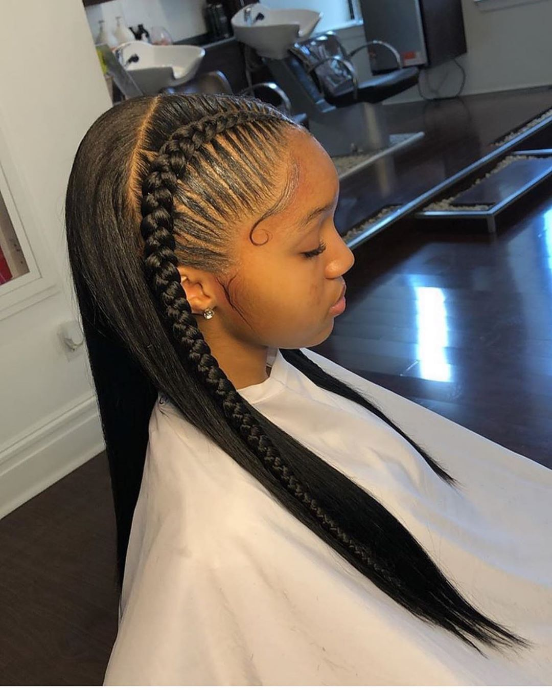 Thriving Hair 9a Top Virgin Human Hair Silky Straight 4 4 13 6 1 Lace Front Wigs With Baby Hairs V2 Front Hair Styles Cool Braid Hairstyles Braided Hairstyles