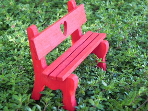 Terrific Fairy Garden Furniture Wooden Bench Sweetheart Miniature Bralicious Painted Fabric Chair Ideas Braliciousco