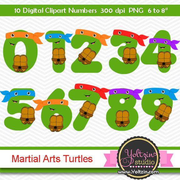 Ninja Turtles Clipart Numbers Clip Art Digital Png Images Number Turtle Mutant Masks Mask Clip Art Ninja Turtles Birthday Party Ninja Turtle Birthday