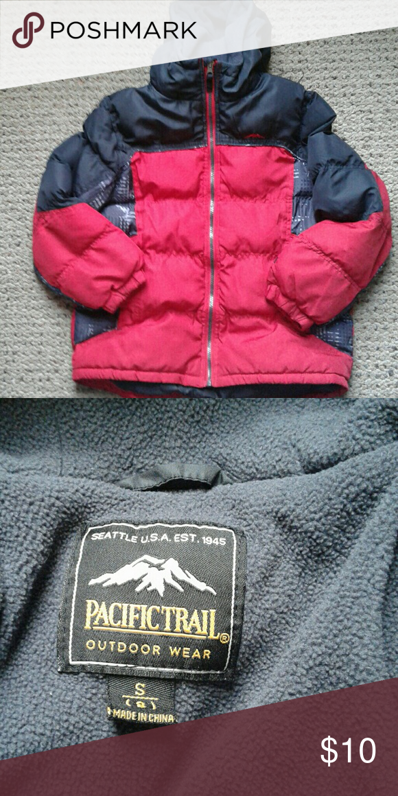 e35f46426cd Pacific trail coat Like new red and black Pacific trails puffy coat size S  (8) Pacific Trail Jackets & Coats Puffers