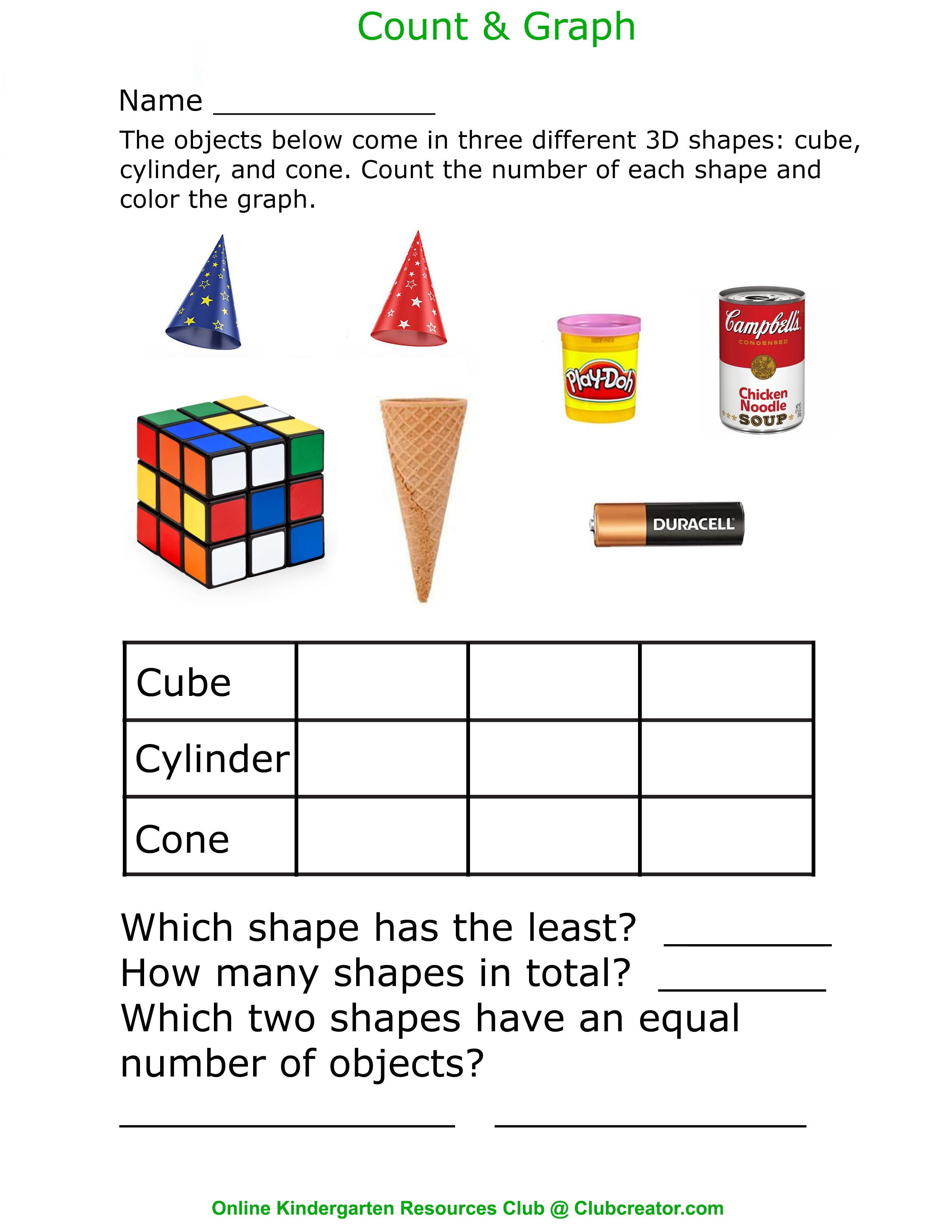 3d Shapes In Real Life Homeschool Worksheets Kindergarten Math Worksheets Online Kindergarten [ 3300 x 2550 Pixel ]