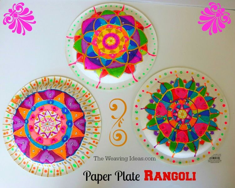 Paper plate rangoli craft idea for kids diwali craft ideas for Art and craft books for kids