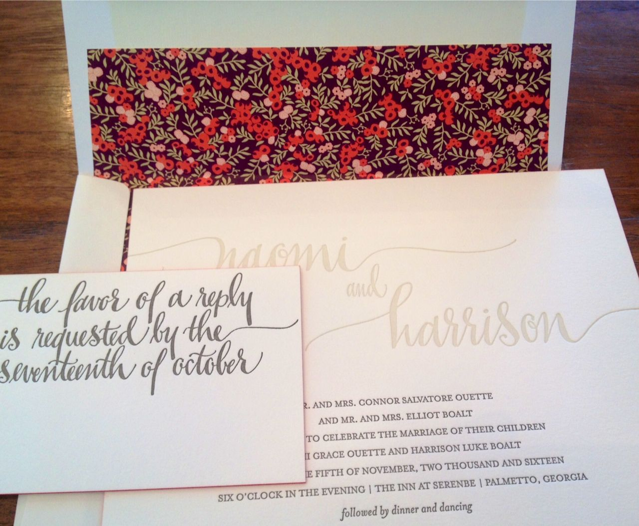 This invitation suite is paired perfectly! | Wedding | Pinterest ...