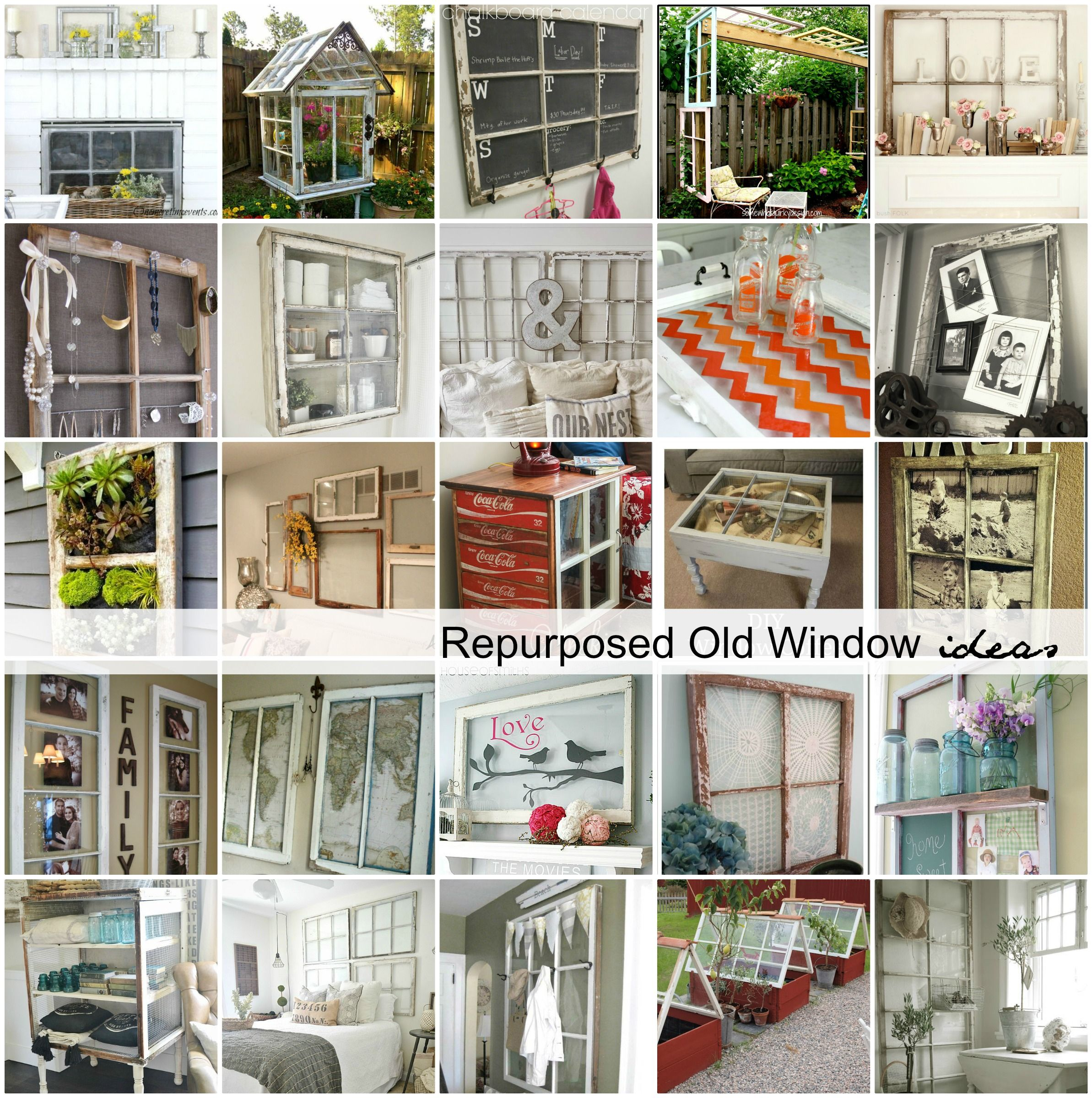 Repurposed old window ideas creative inspiration and window