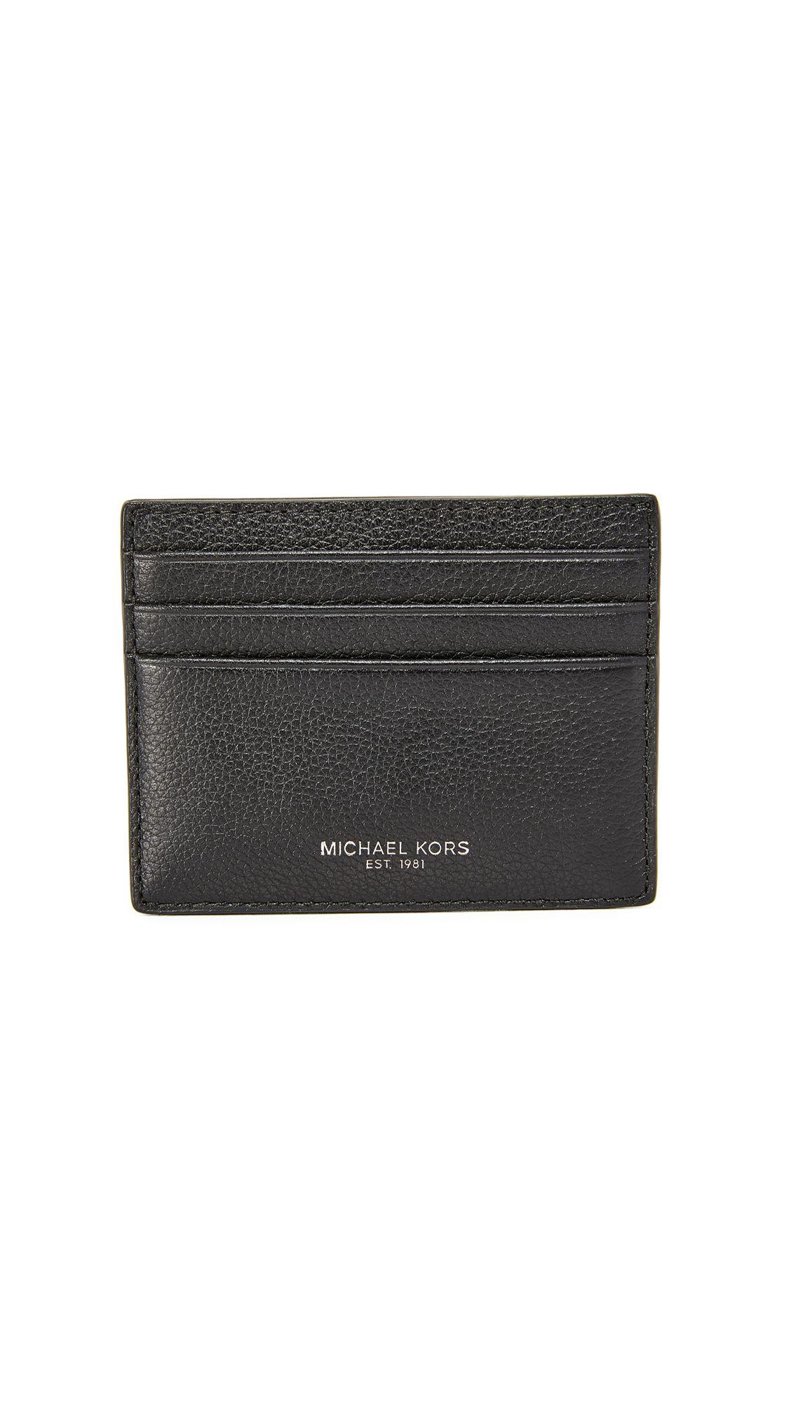 2c30eb5041 MICHAEL KORS Bryant Pebbled Leather Tall Card Case. #michaelkors #case