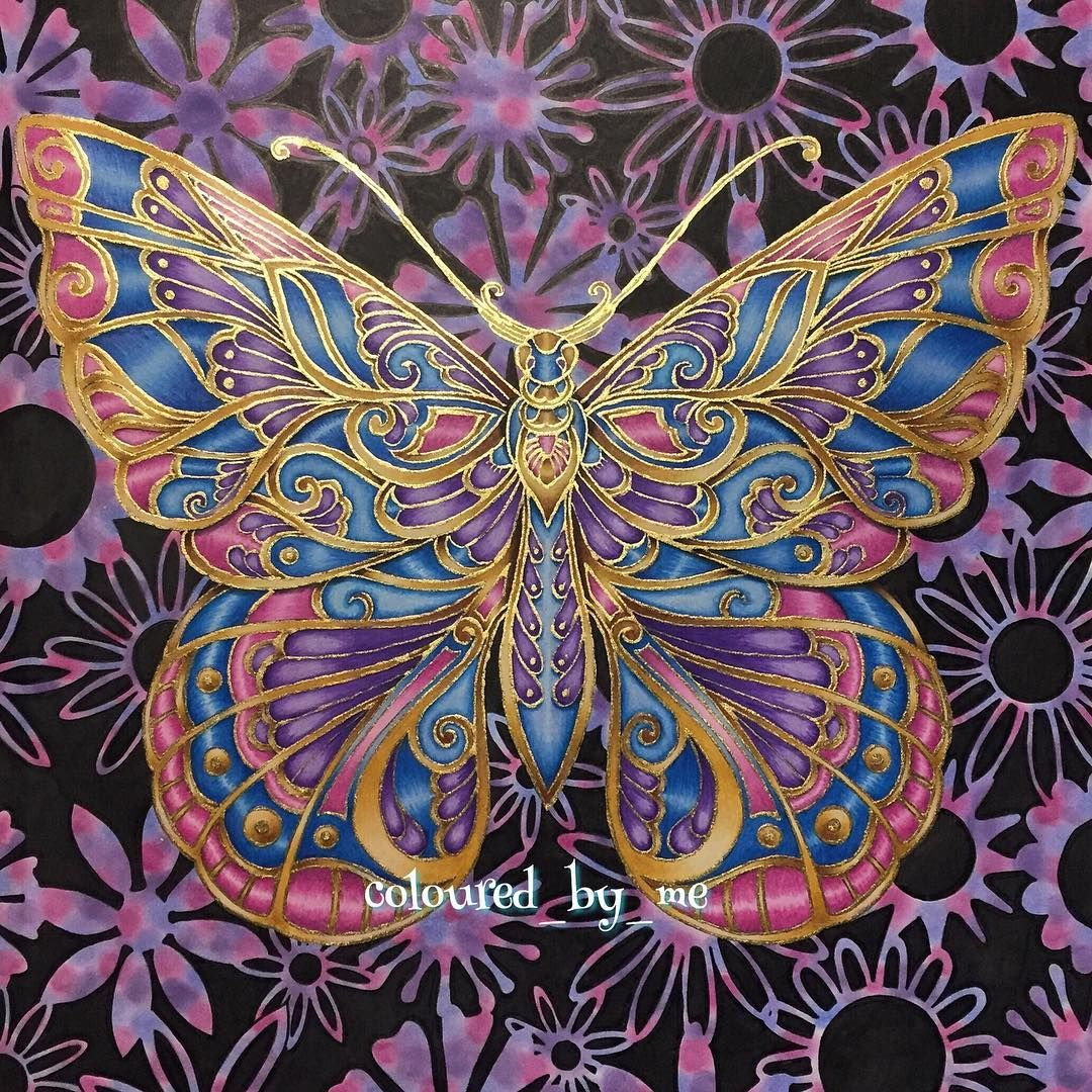 Finally Finished The Butterfly Magical Jungle No 2 Johanna Basford Ca Magical Jungle Johanna Basford Johanna Basford Coloring Book Johanna Basford Coloring [ 1080 x 1080 Pixel ]