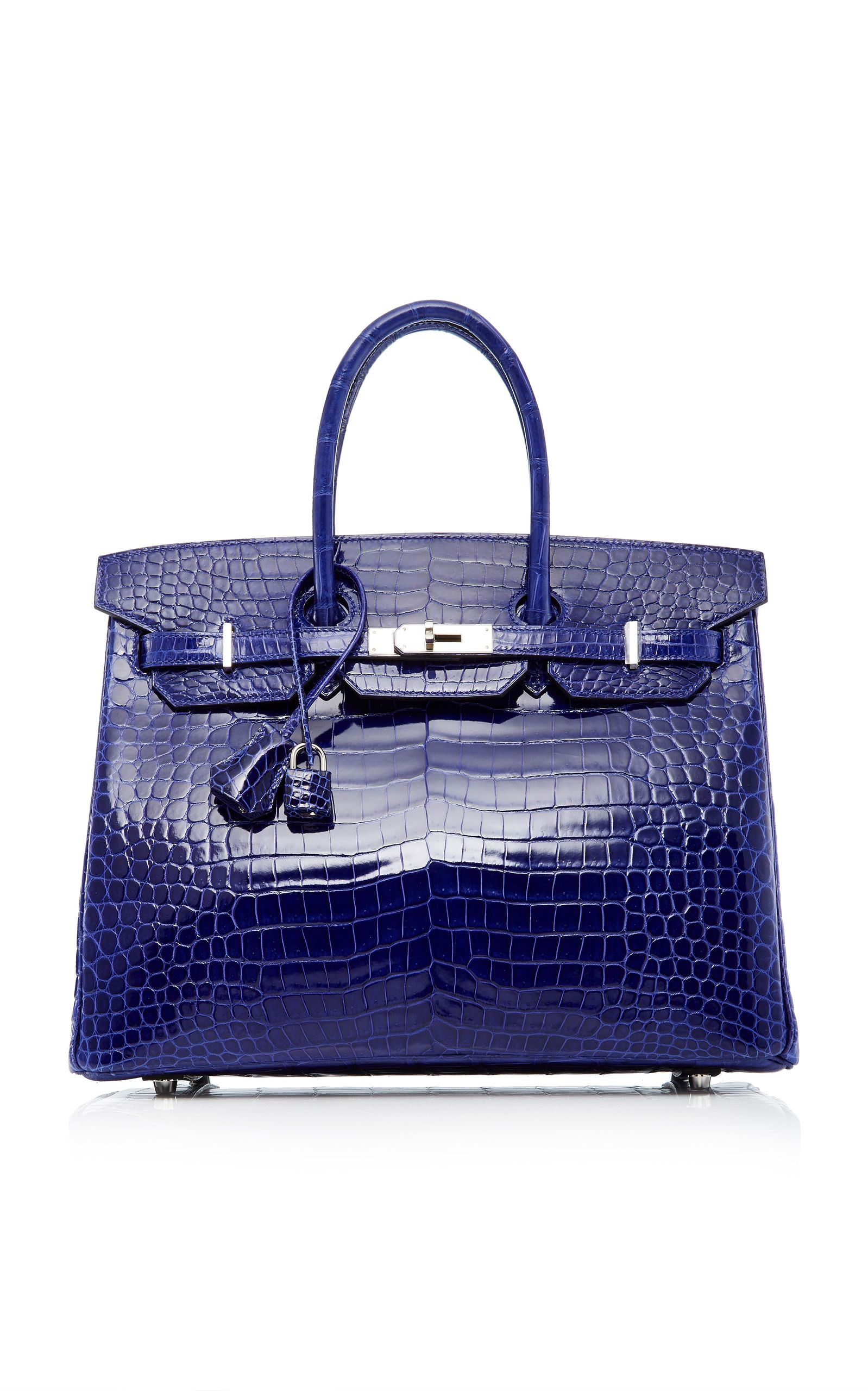 51f5c818b547 HERITAGE AUCTIONS SPECIAL COLLECTIONS HERMÈS 35CM BLUE ELECTRIC SHINY  POROSUS CROCODILE BIRKIN.  heritageauctionsspecialcollections