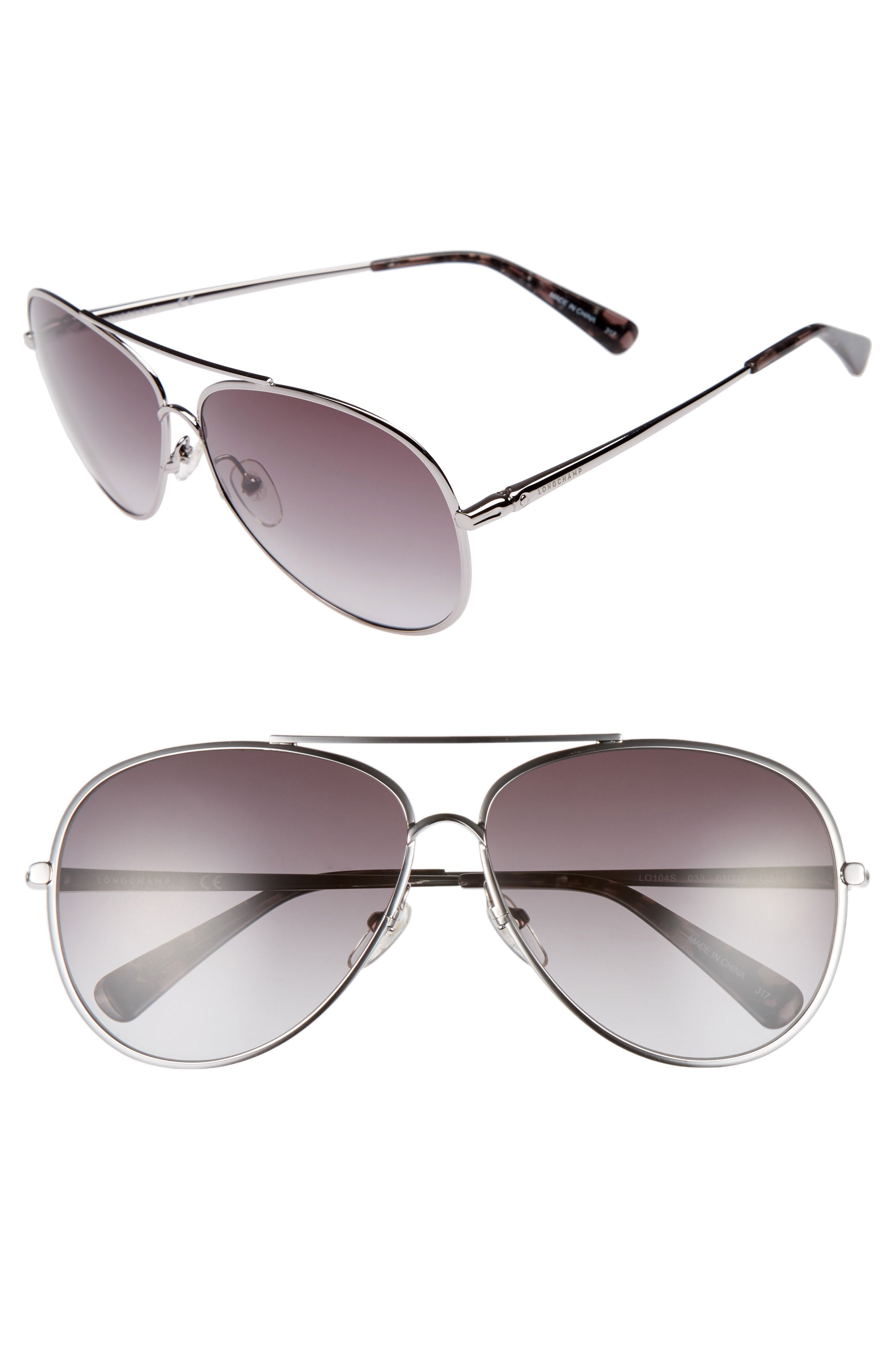 7a84b999e0 Longchamp 61mm Gradient Lens Aviator Sunglasses available at  Nordstrom  -mine