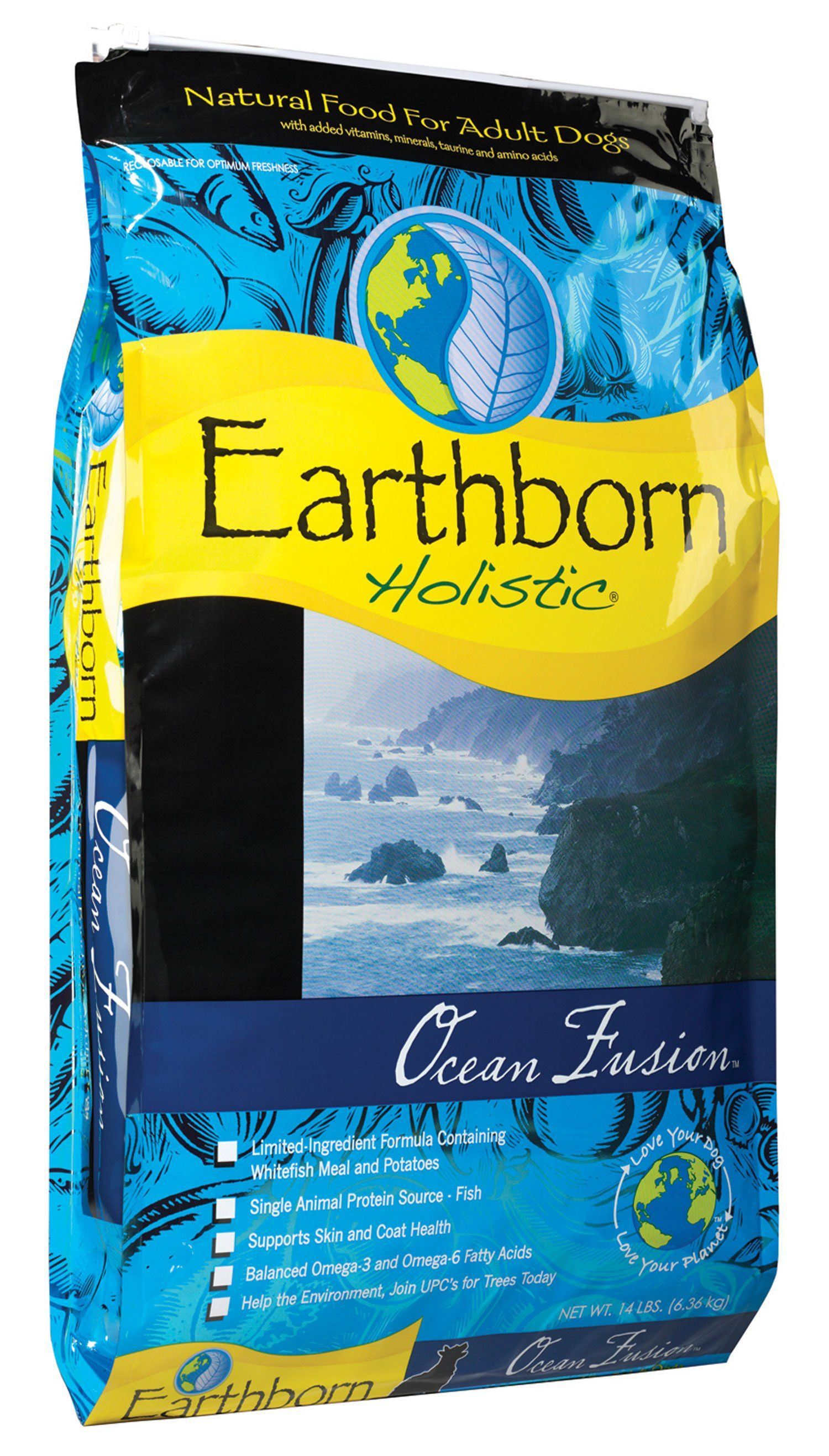 Earthborn Holistic Ocean Fusion Whitefish Dry Dog Food Dry Dog