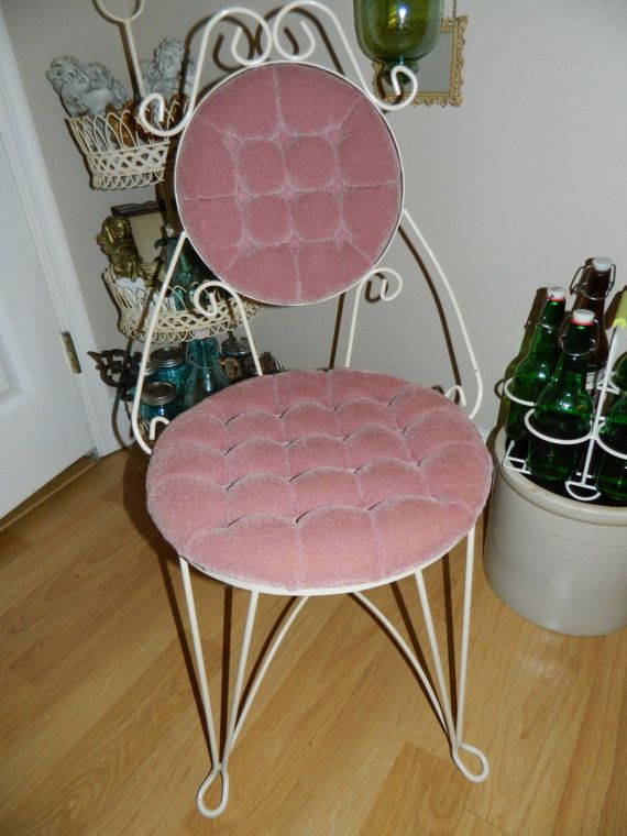 For Victoria Shipping on this Pink Vanity Chair - For Victoria Shipping On This Pink Vanity Chair Vintage Vanity