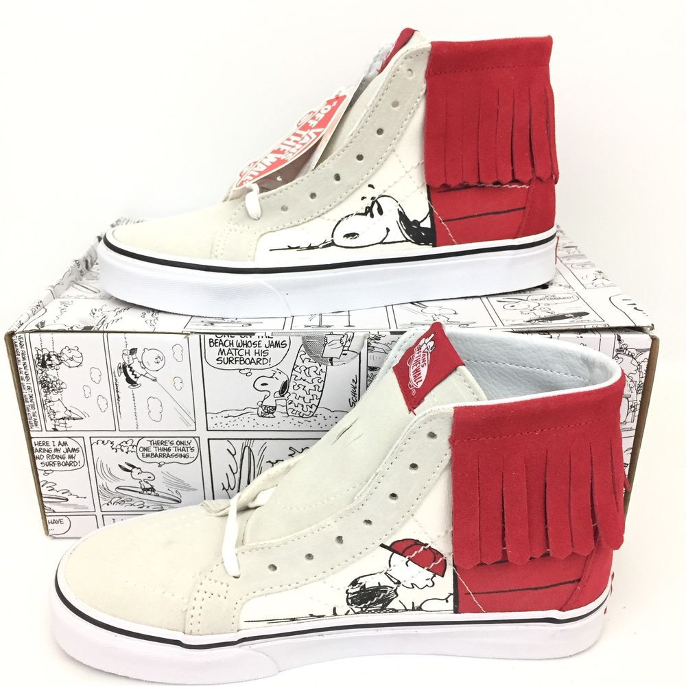 d442948679 Vans SK8-Hi Moc Peanuts Snoopy Dog House Bone New Box Size 6 Mens 7.5 Womens   Vans  Skateboarding