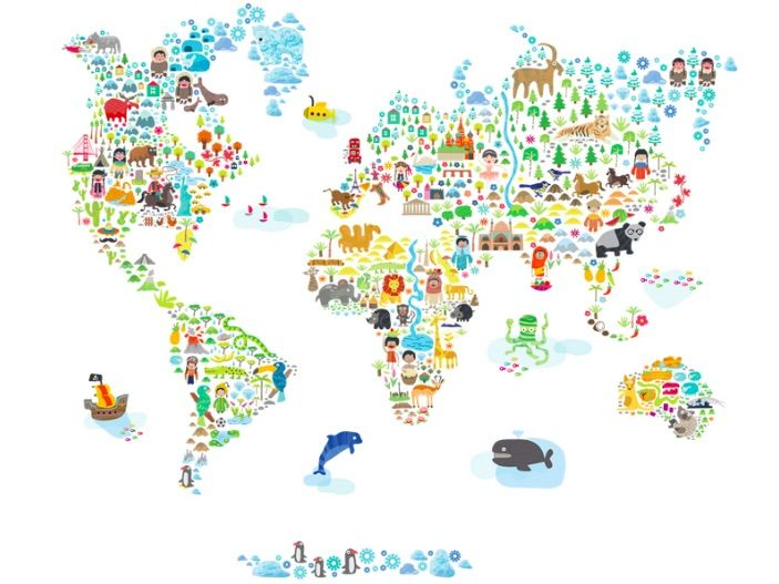 3 cool world map decals to get kids excited about geography 3 cool world map decals to get kids excited about geography gumiabroncs Image collections