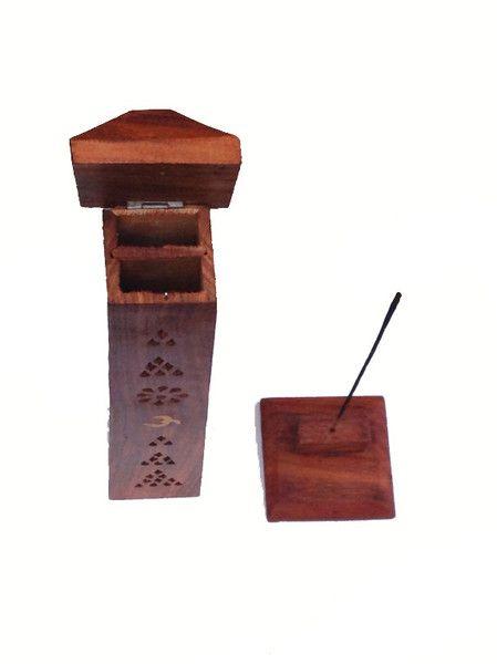 e698cd34474 Torre porta inciensos de madera   DECORACION   Porta incienso ...