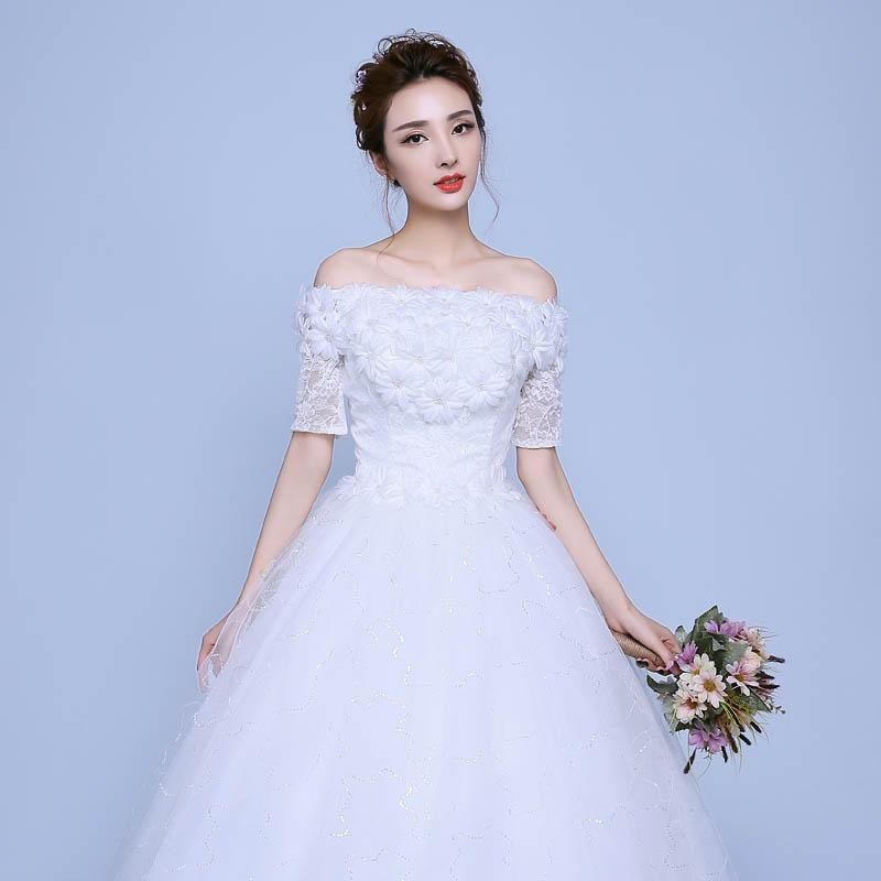 Costbuys Wedding Dresses With Flowers Ball Gowns Wedding Dresses