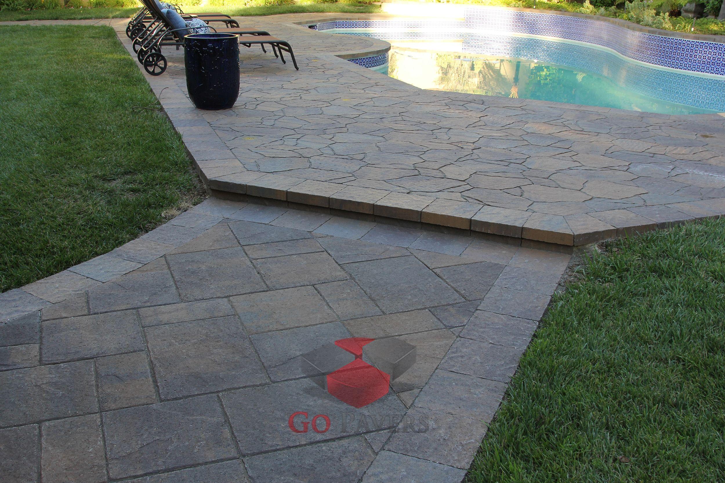 Agoura hills pool belgard arbel and lafitt patio slab toscana color view 11 gopavers com