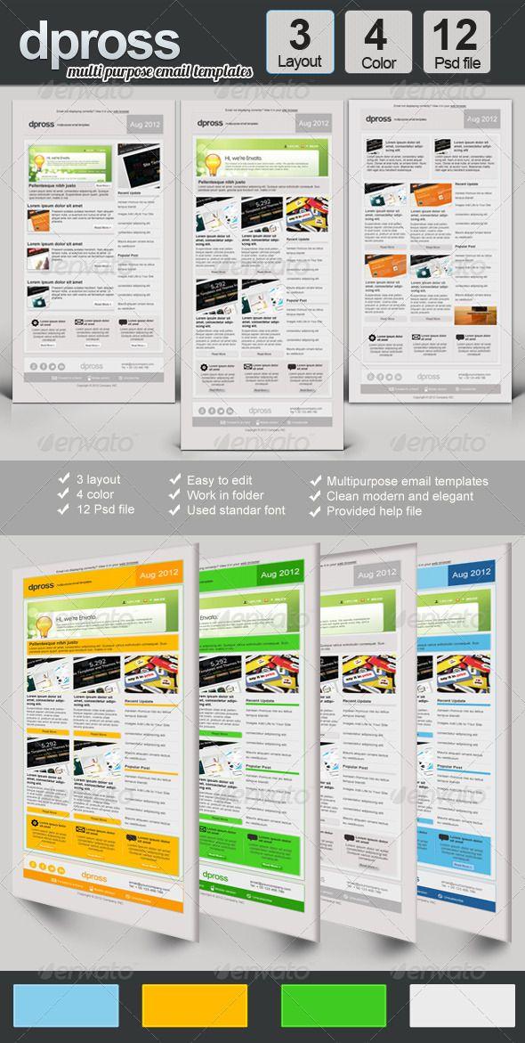 Dpross Multipurpose Newsletter Templates Newsletter templates - free email newsletter templates word