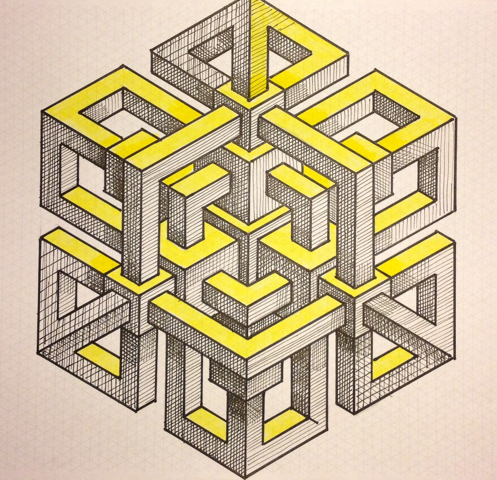 Possível ideia para a unidade de trabalho sobre isometrias. Impossível