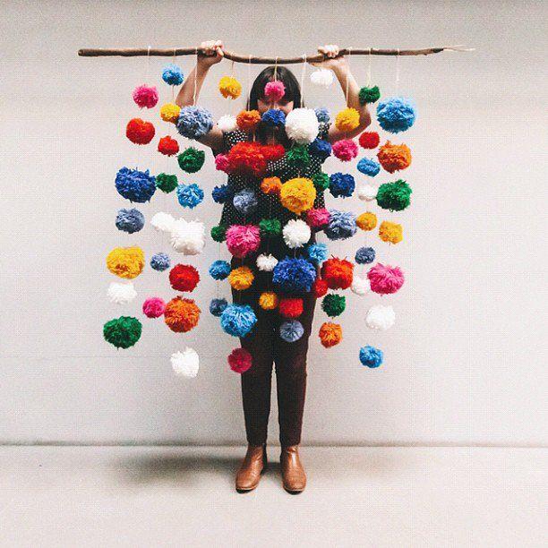 30 adorable diy pom pom decorations - Pom Pom Decorations