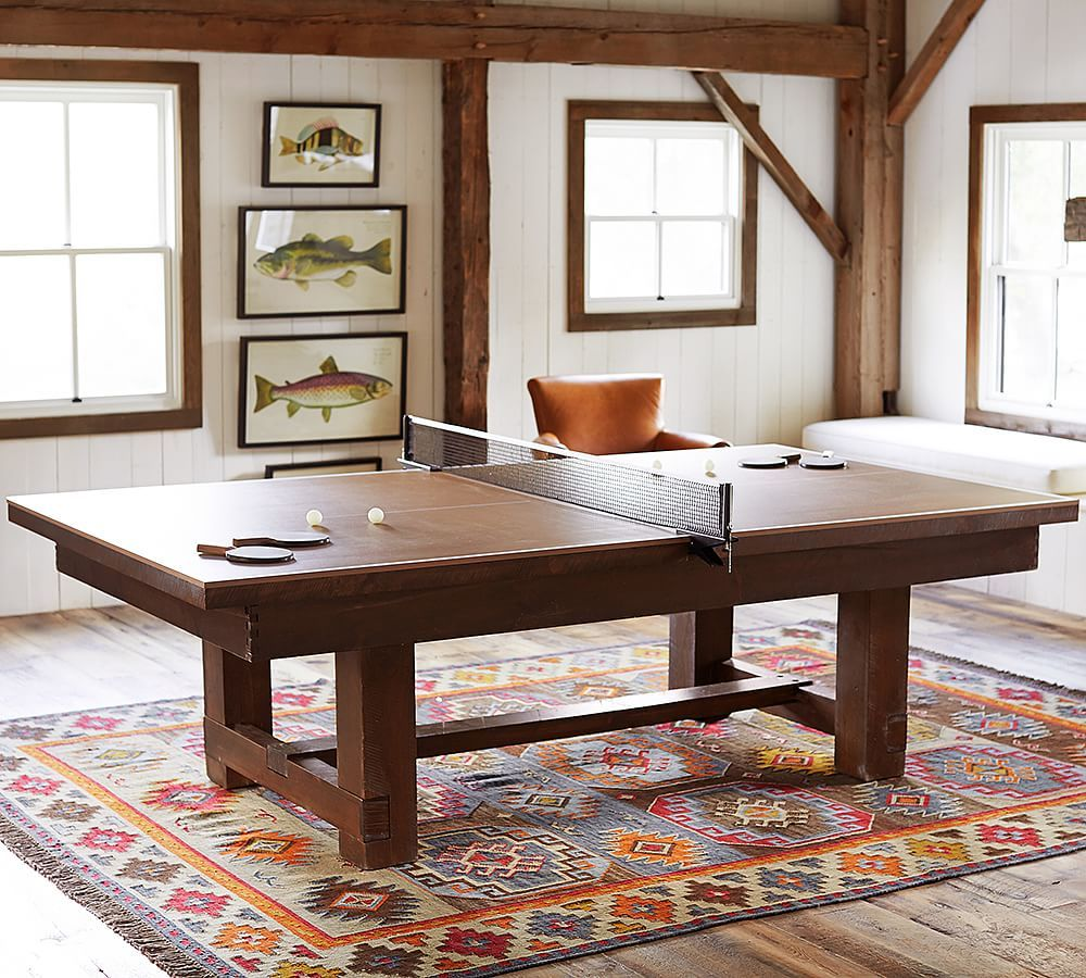 Pottery Barn Pool Table Table Tennis Conversion Cover