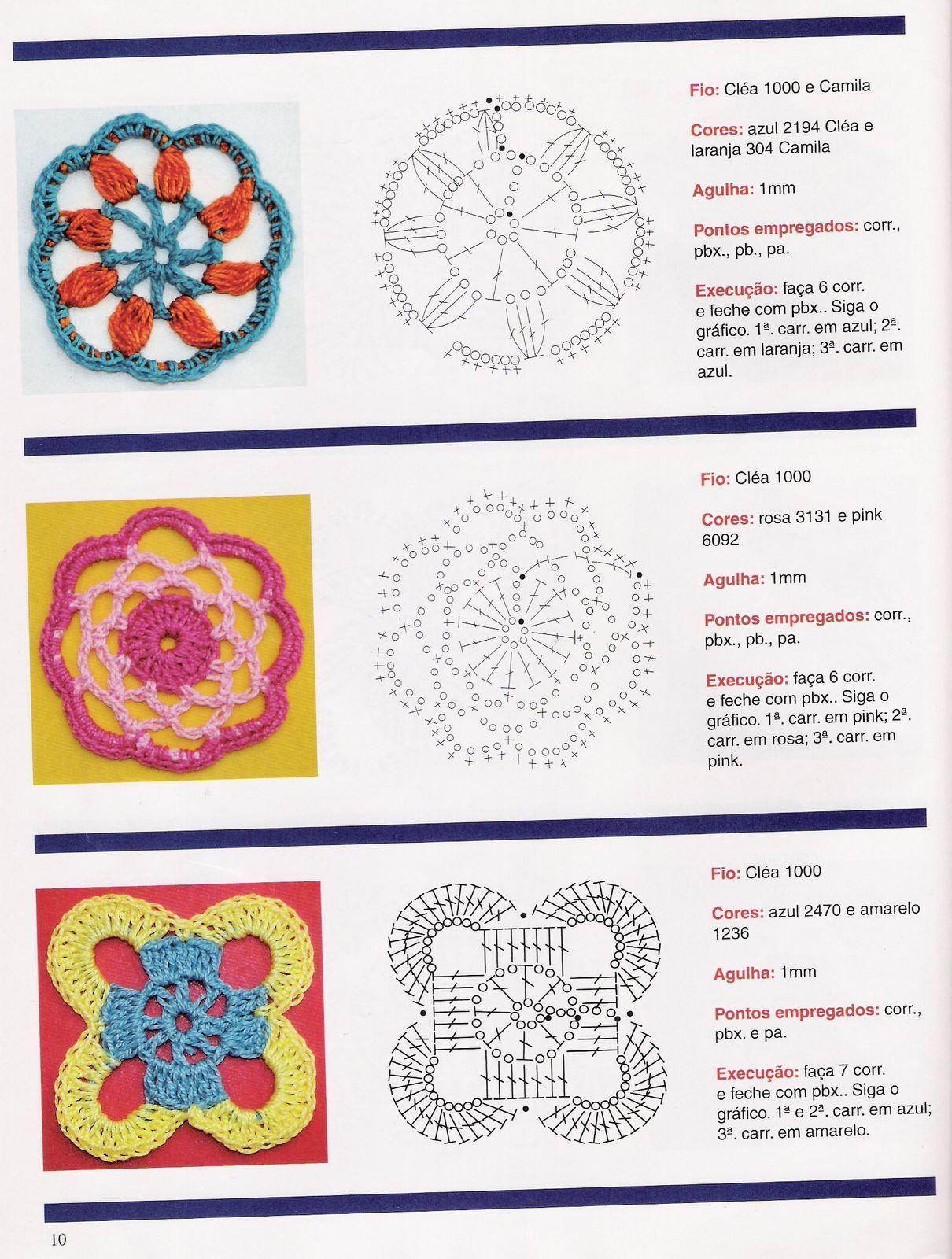 ♥ Un Poquito de Todo: patron flores crochet