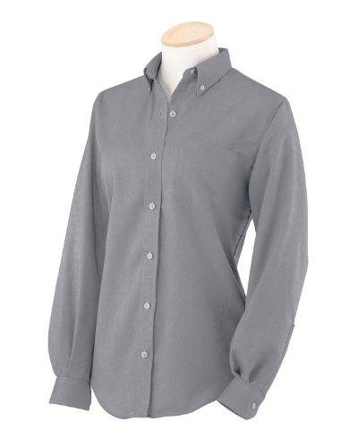 Van Heusen Women is Short Sleeve Wrinkle-Resistant Oxford Button Down Dress Shirt 59850 Dark Grey XX-Large