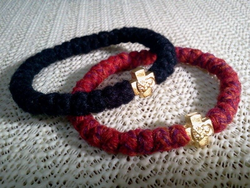 1 pc Orthodox russian greek chotki komboskini prayer rope 33knot bracelet wool