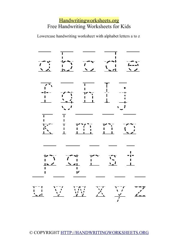 Free Lowercase Letter Worksheets Free Printable Handwriting
