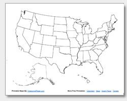 FREE Printable United States Map Collection Outline Maps With Or - Free paper us map