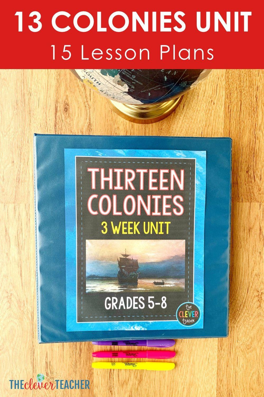 Jamestown Colony Worksheet 5th Grade 13 Colonies Unit 13 Colonies 13 Colonies Lessons