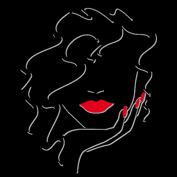 Resultado de imagen de mujer de labios rojos dibujo