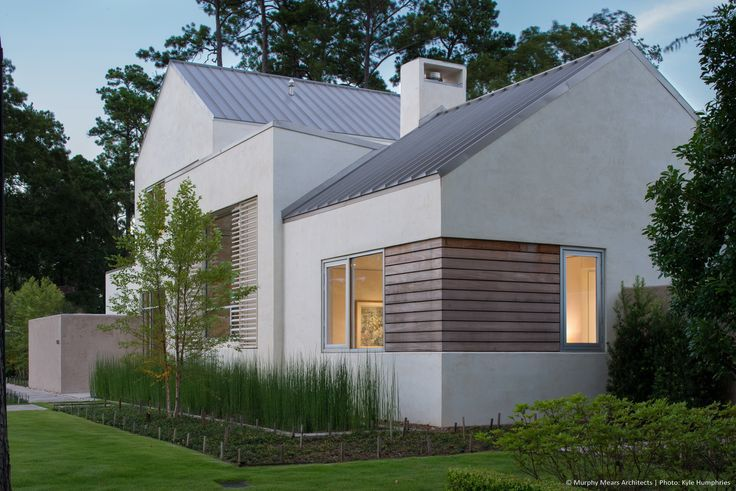 modern stucco house exterior with metal roof - Google Search