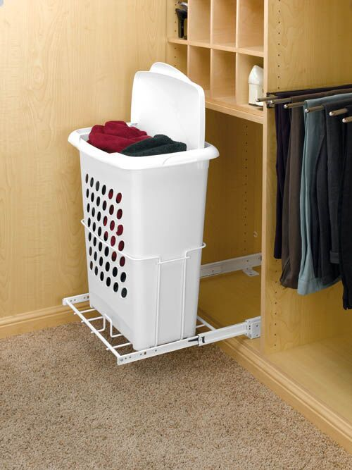 Perfect For Closets And Laundry Rooms A Slide Out Hamper Creates A