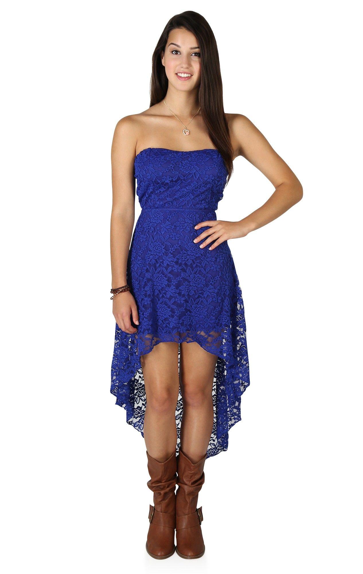 Lace Hi-Low Casual Dress