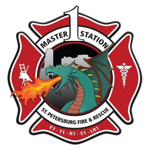 st petersburg fire rescue master fire station company 1 fire rh za pinterest com fire station logo vector fire station logo images