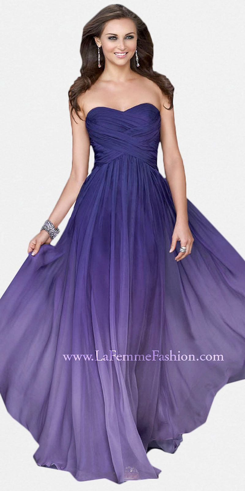 Purple sweetheart evening dresses by la femme at edressme gowns