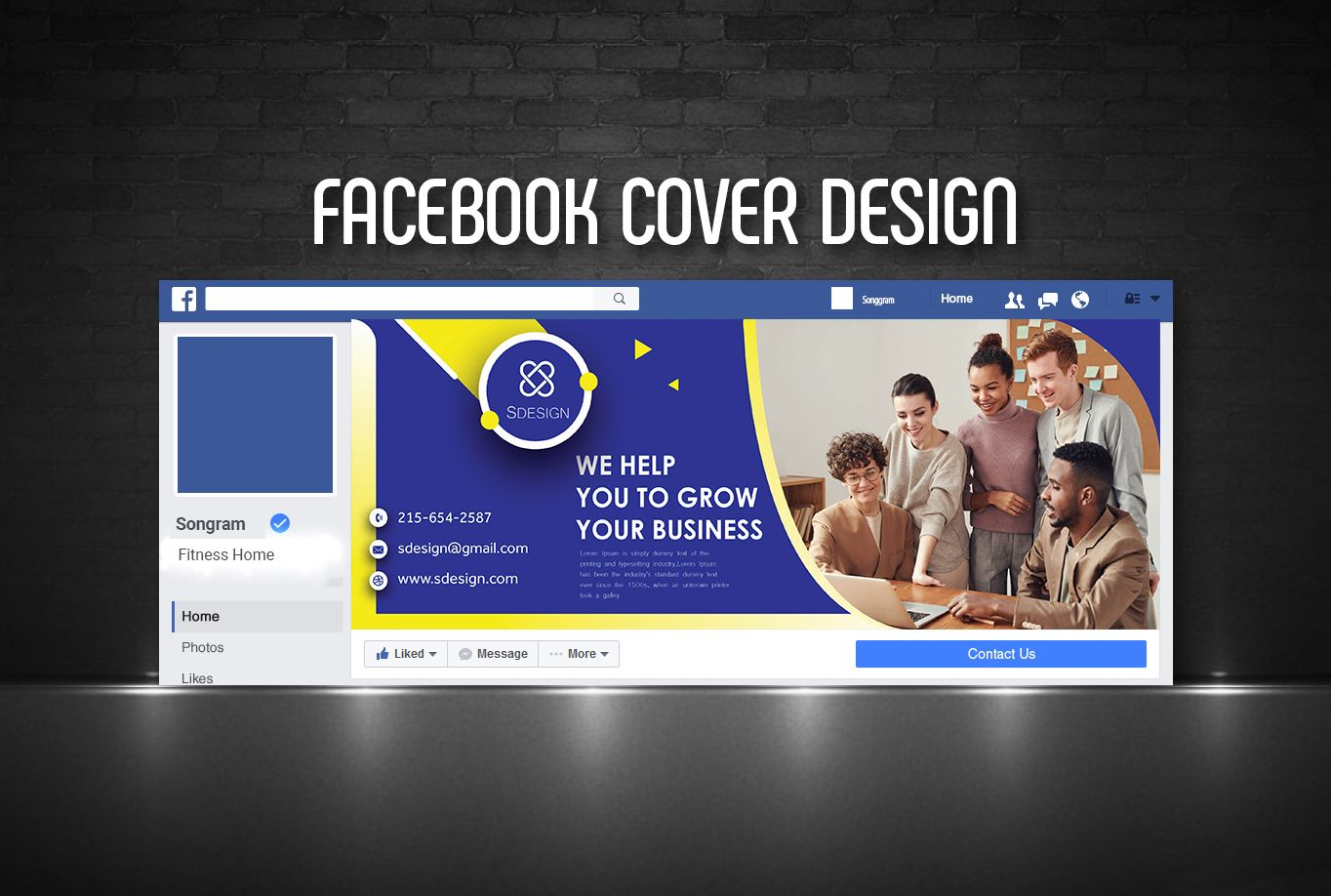Facebook header mockup