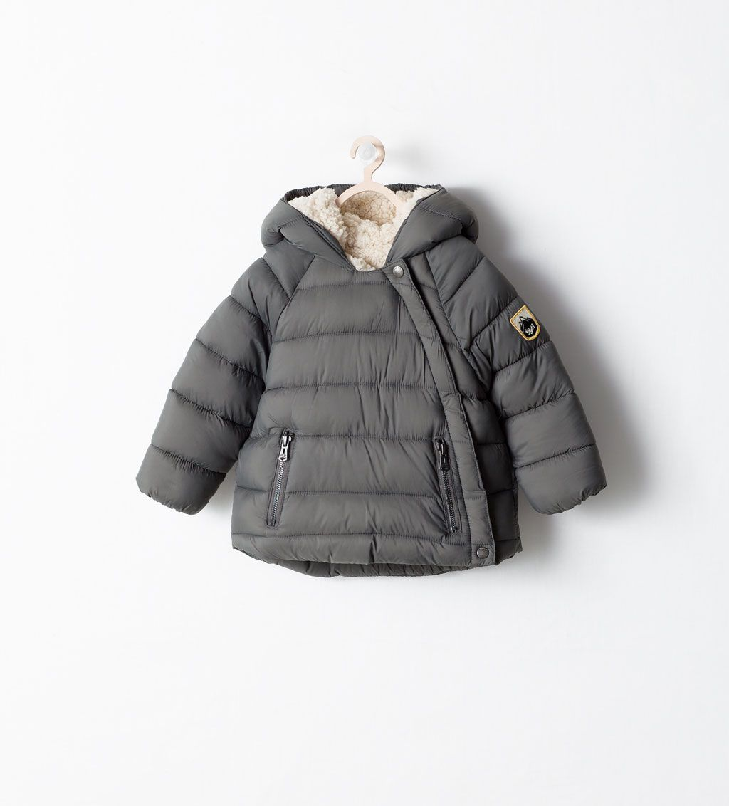 115b86256536b Image 1 of PADDED JACKET WITH SIDE ZIP from Zara