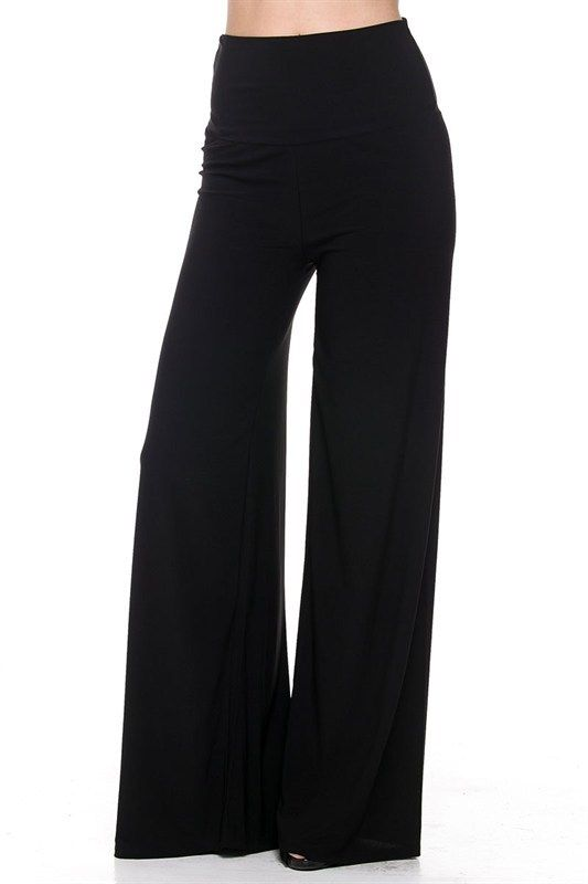 ff51a5a4a79a1 Kelly Brett Boutique - Plus Size Palazzo Pants Black