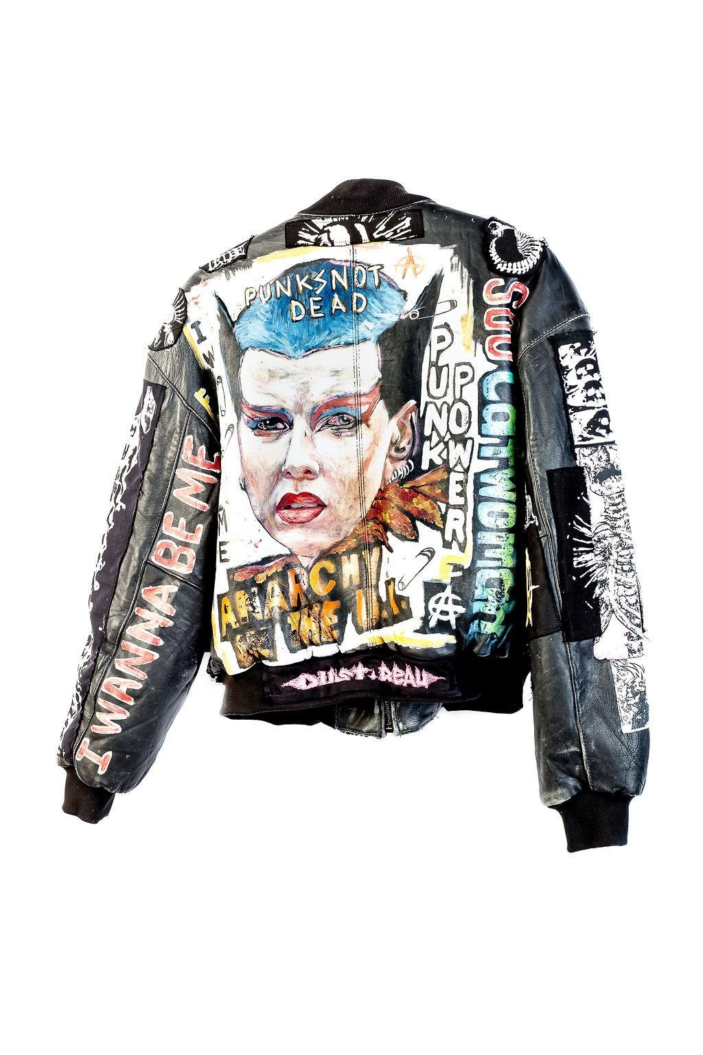 Anarchy Love Jacket Punk Fashion Battle Jacket Jackets [ 1536 x 1024 Pixel ]