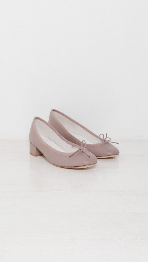 6be80fd0ab1 Repetto Camille Mid-Heel Ballerina in Taupe | The Dreslyn ...