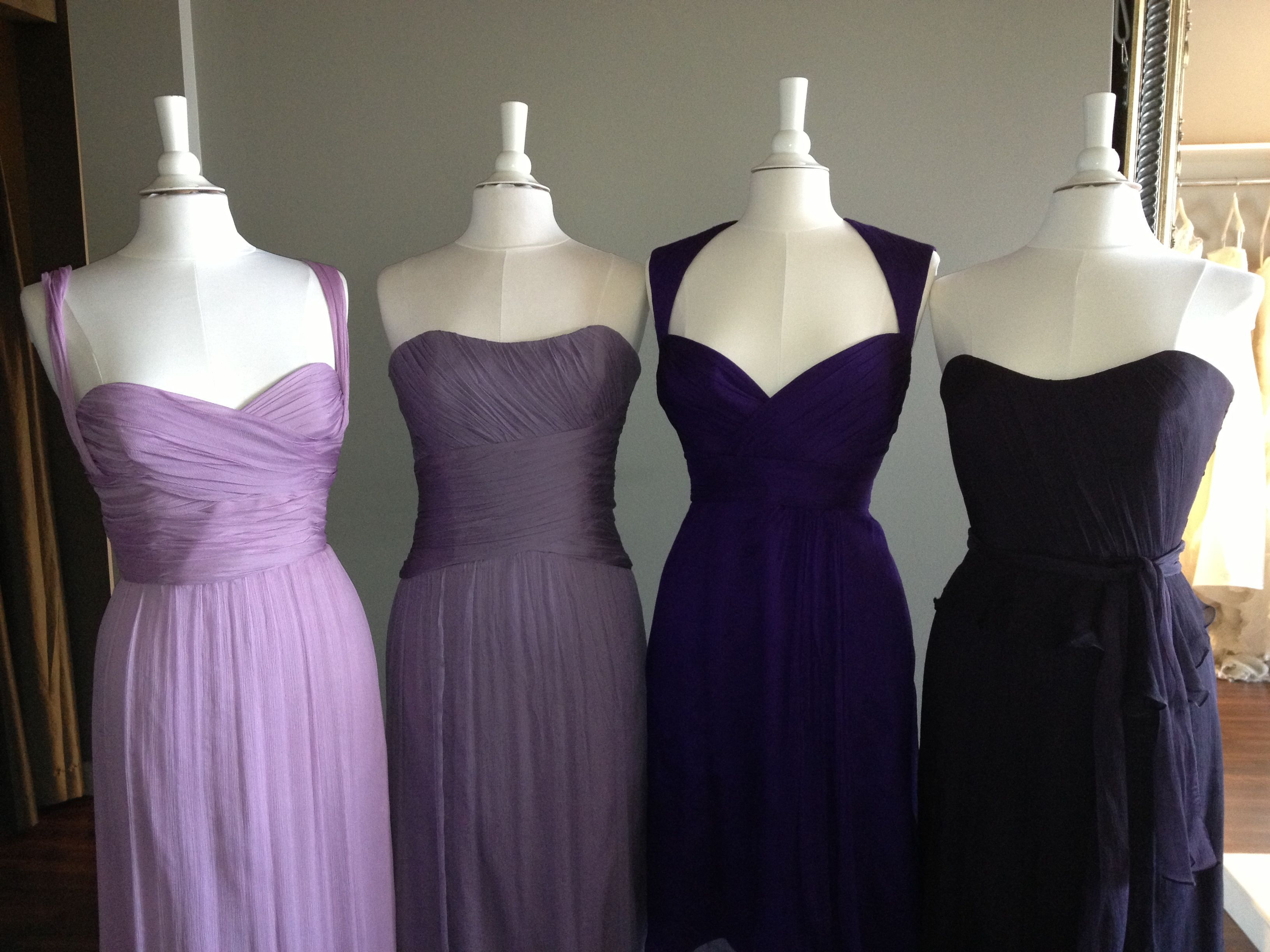 bridesmaids dress - far left