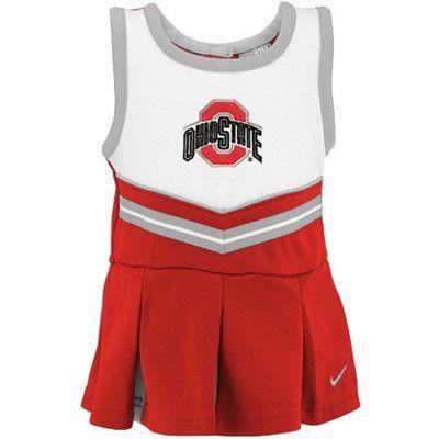 online store 0ecc8 9eeb0 Nike Ohio State Buckeyes Infant Scarlet Cheer Dress   Bloomers