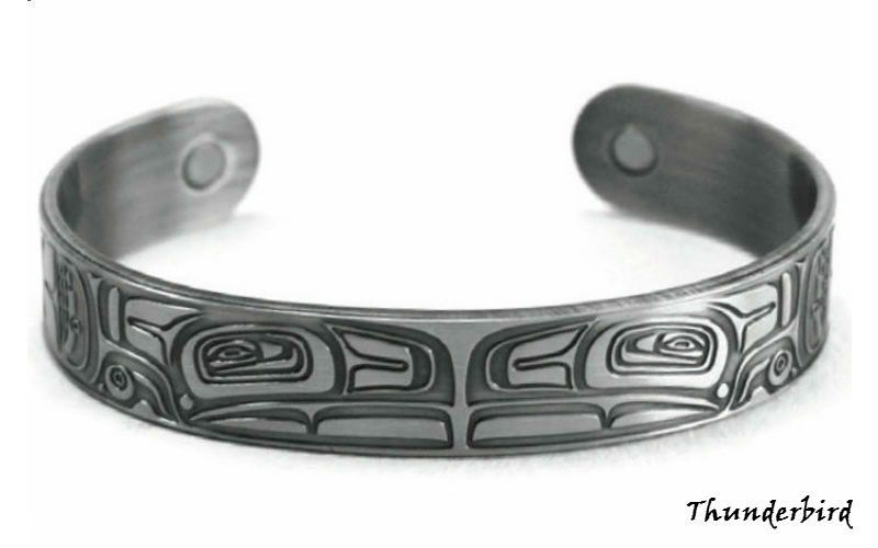 Thunderbird Silver Brushed Copper Cuff Bracelet designed by Morgan Green