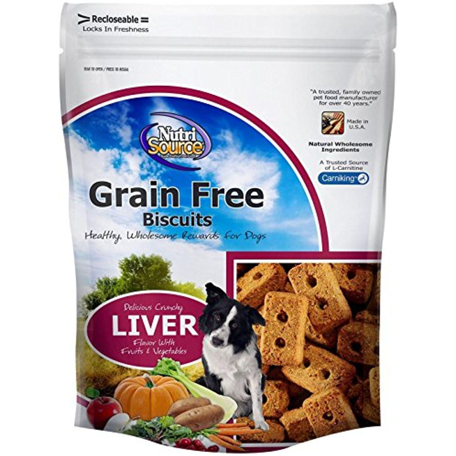 Nutri source grain free liver biscuit 14 oz to have