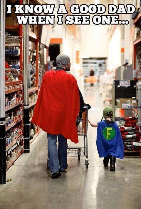 Eu reconheço um bom pai quando vejo...