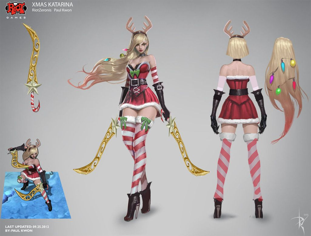 League Of Legends Character Design Contest : Slay belle katarina concept art riotzeronis league of