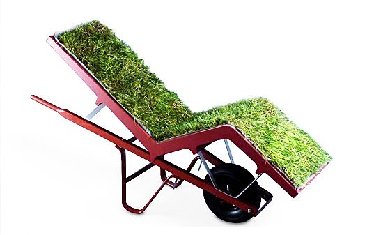 chaise lawn chair, wheelbarrow chair, voos, deger, best chairs on broadway, green seating, green chairs