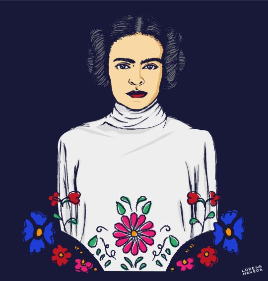 Frida Kahlo en una galaxia muy muy lejana. Frida Kahlo in a far far away galaxy. #FridaKahlo #StarWars